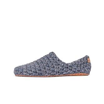 Gray Mens Wool Slippers