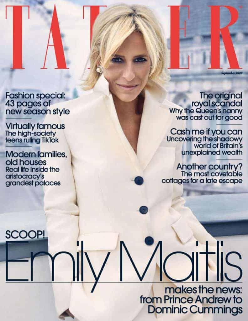 Tatler Cover   September 2020