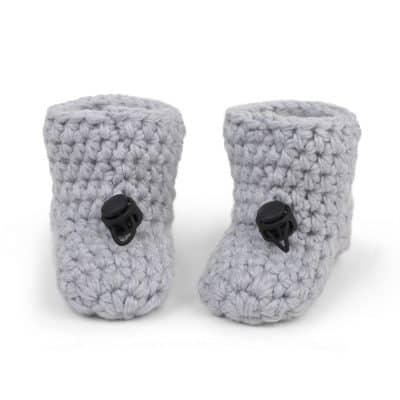 Soft Gray Bamboo Baby Booties | Newborn 0 – 4 mths